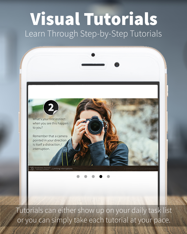VISUAL TUTORIALS. LEARN PHOTOGRAPHY THROUGH STEP BY STEP TUTORIALS.