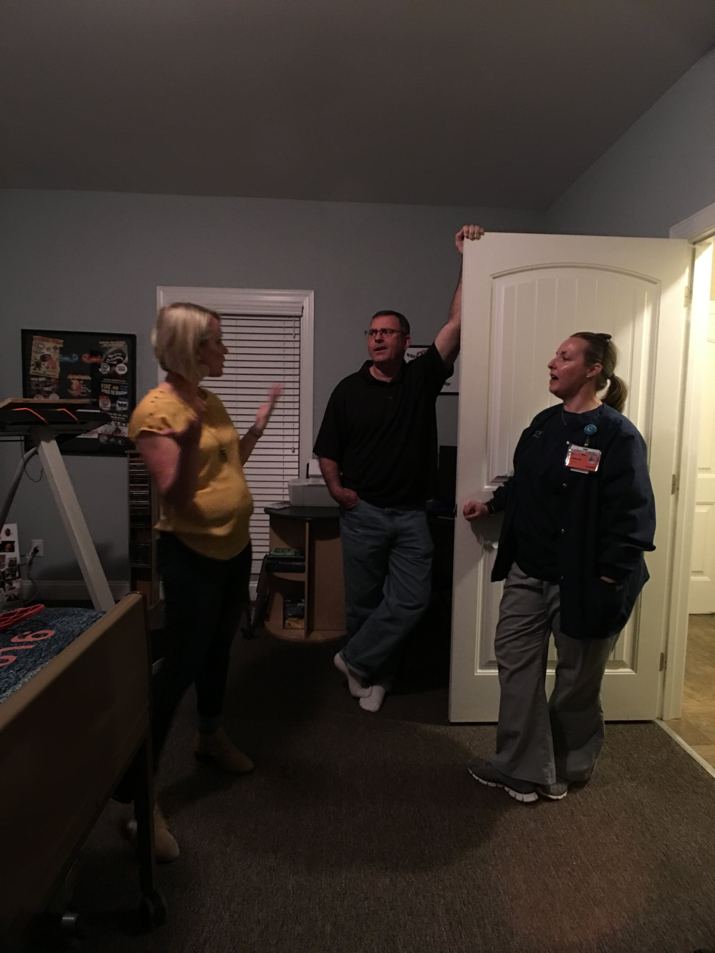 We were honored to visit their son's room, which for the most part remained untouched. This family was such an insipration to us and we loved every minute we had with them.