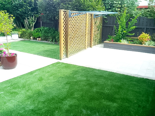 Artificial Lawn doesn't need to be lime green mini-golf turf!
