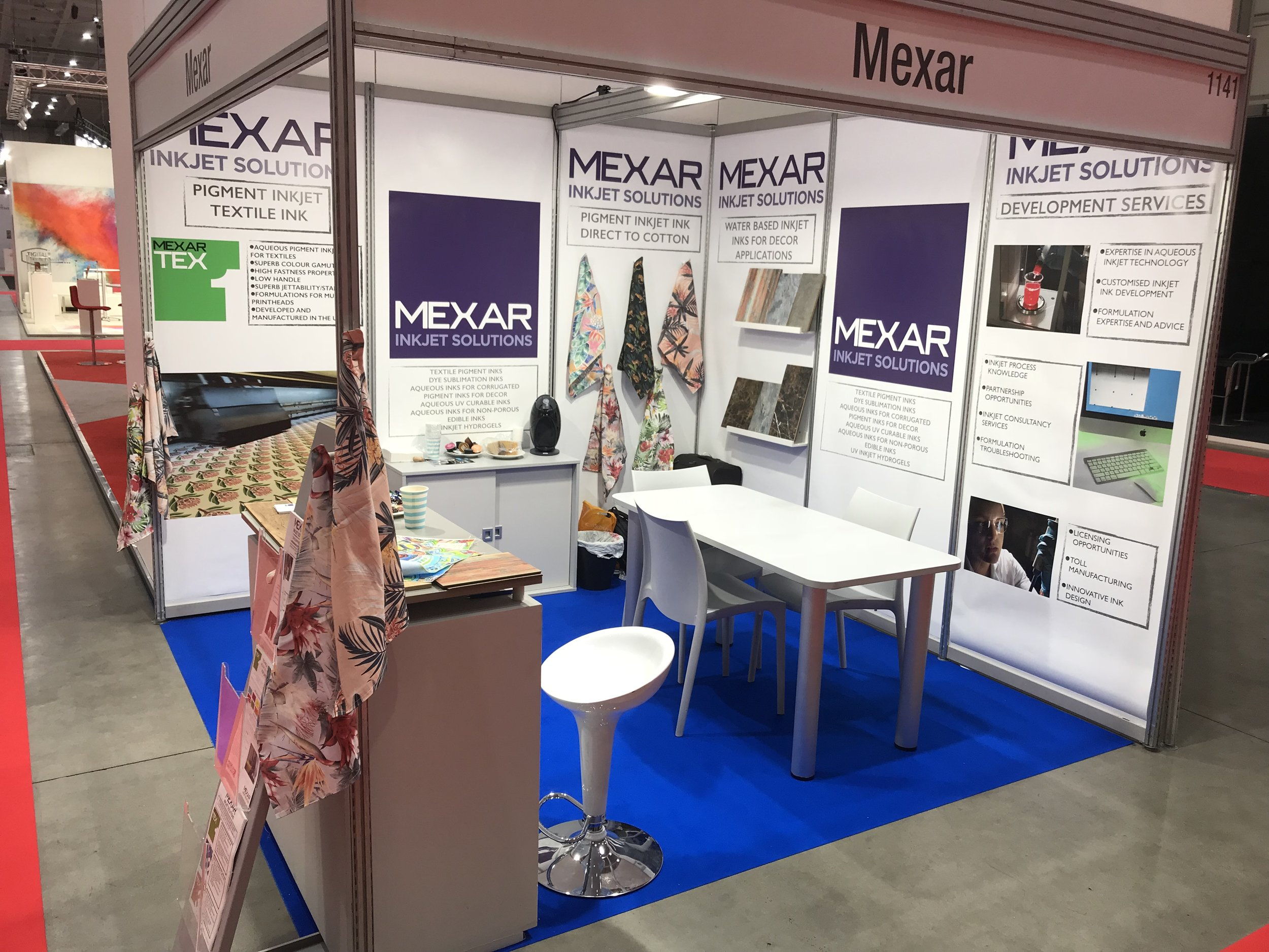 Mexar's booth at INPRINT 2018