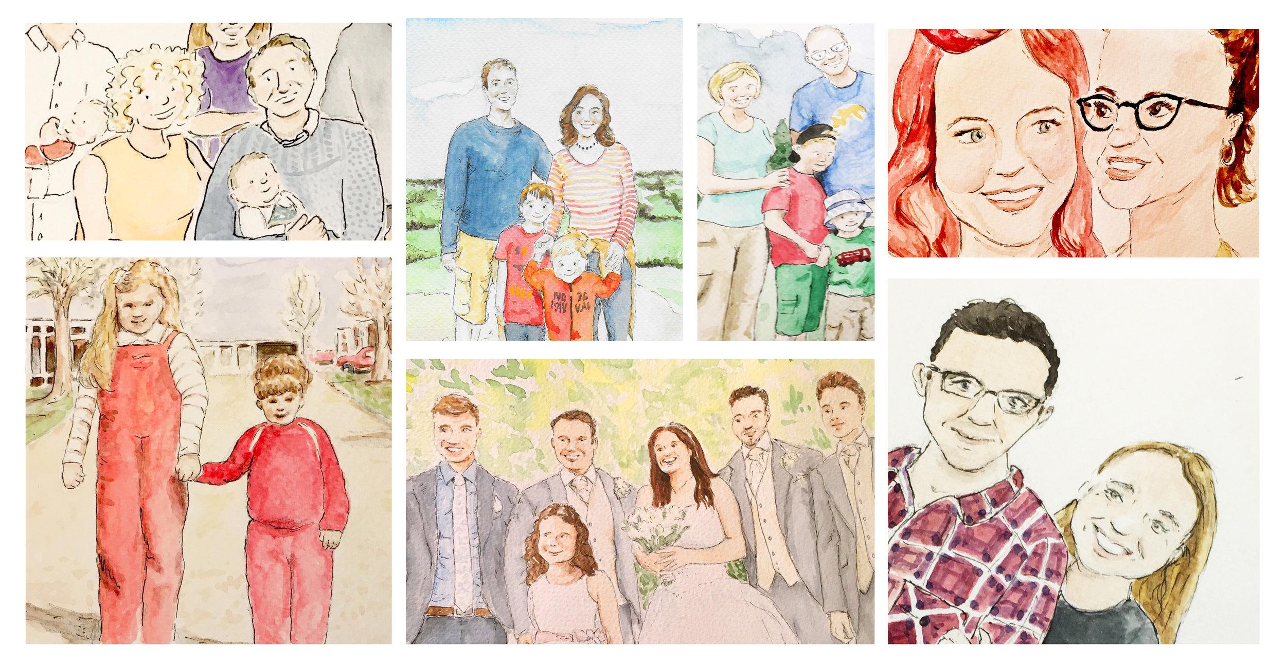custom portrait examples
