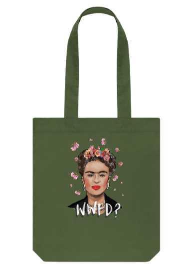 Frida Kahlo organic tote