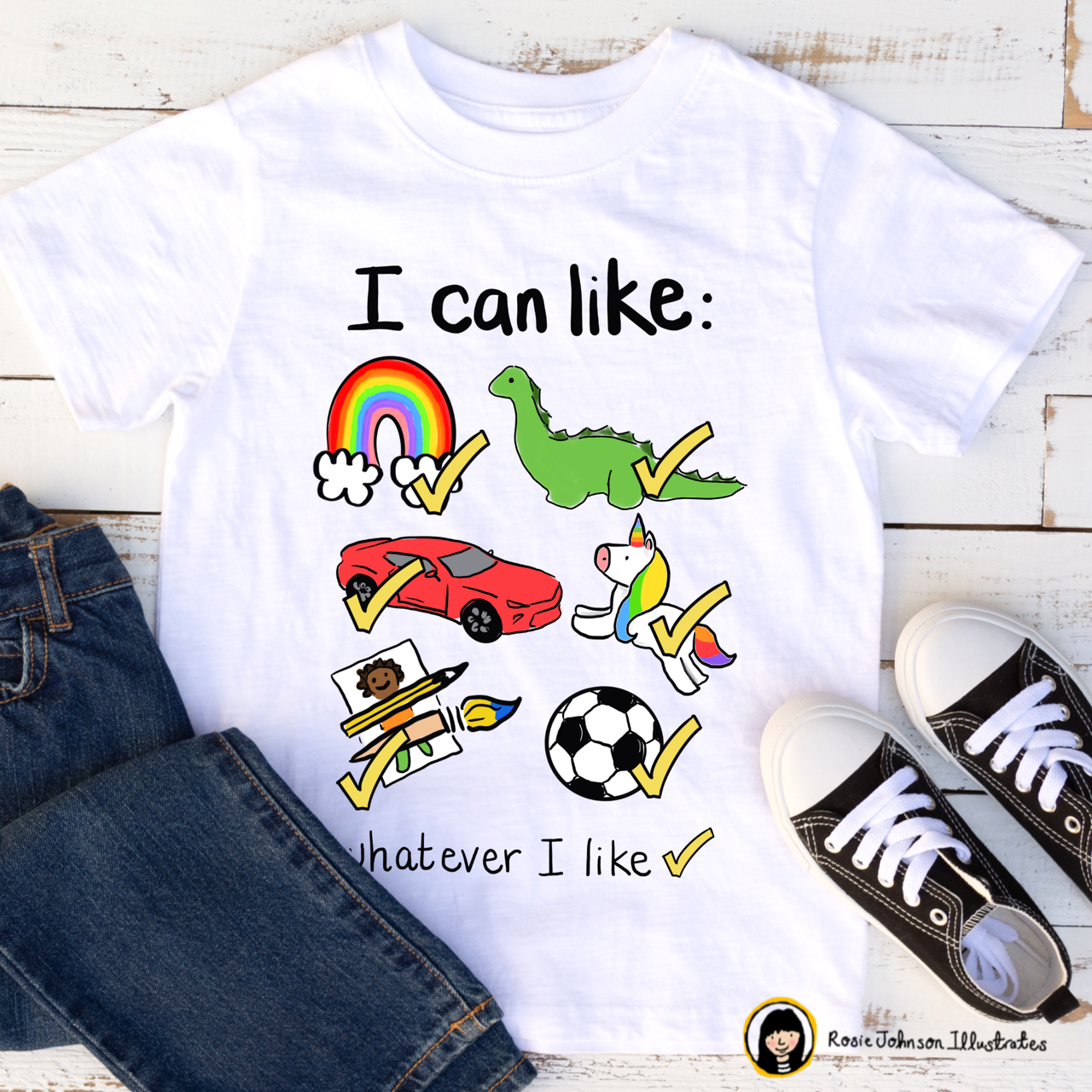 i can like what i like organic childrens tee