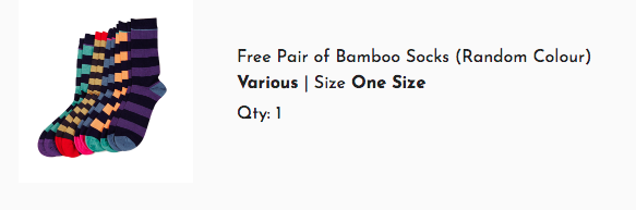 Oh wait, what? - Actually do buy my stuff this weekend because you'll get a pair of free bamboo socks!