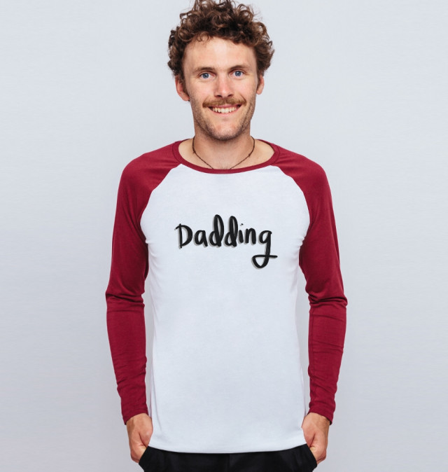 £19 Organic Dadding baseball long sleeve organic tee