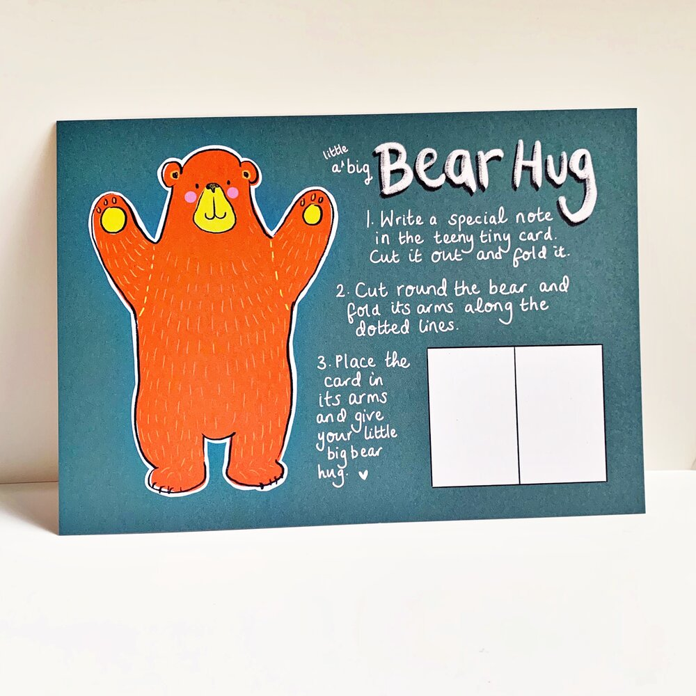 Chering is caring Cher friendship card by Rosie Johnson Illustrates