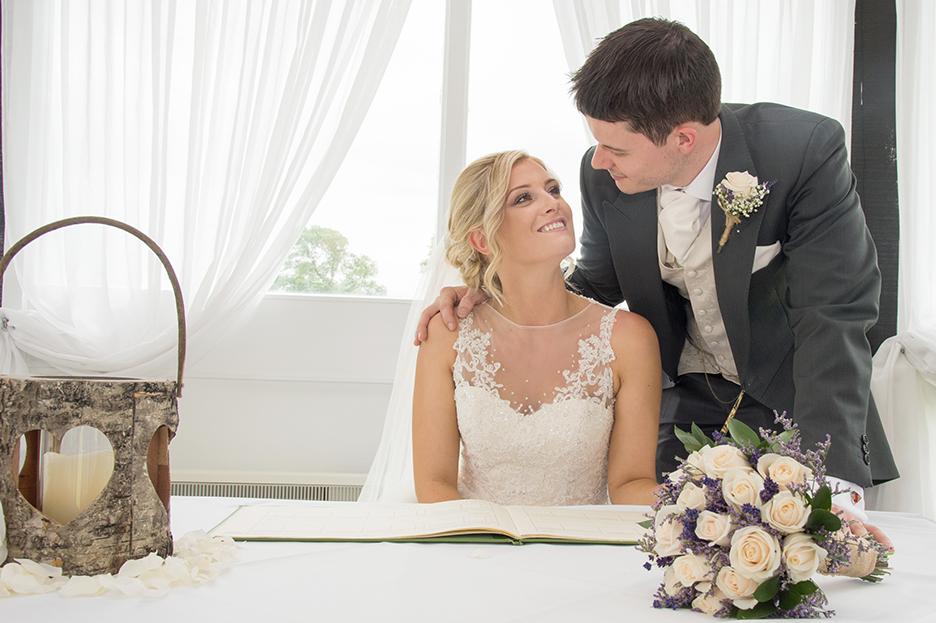 Bride and Groom sign register Sketchley Grange Hotel Hinckley Leicestershire