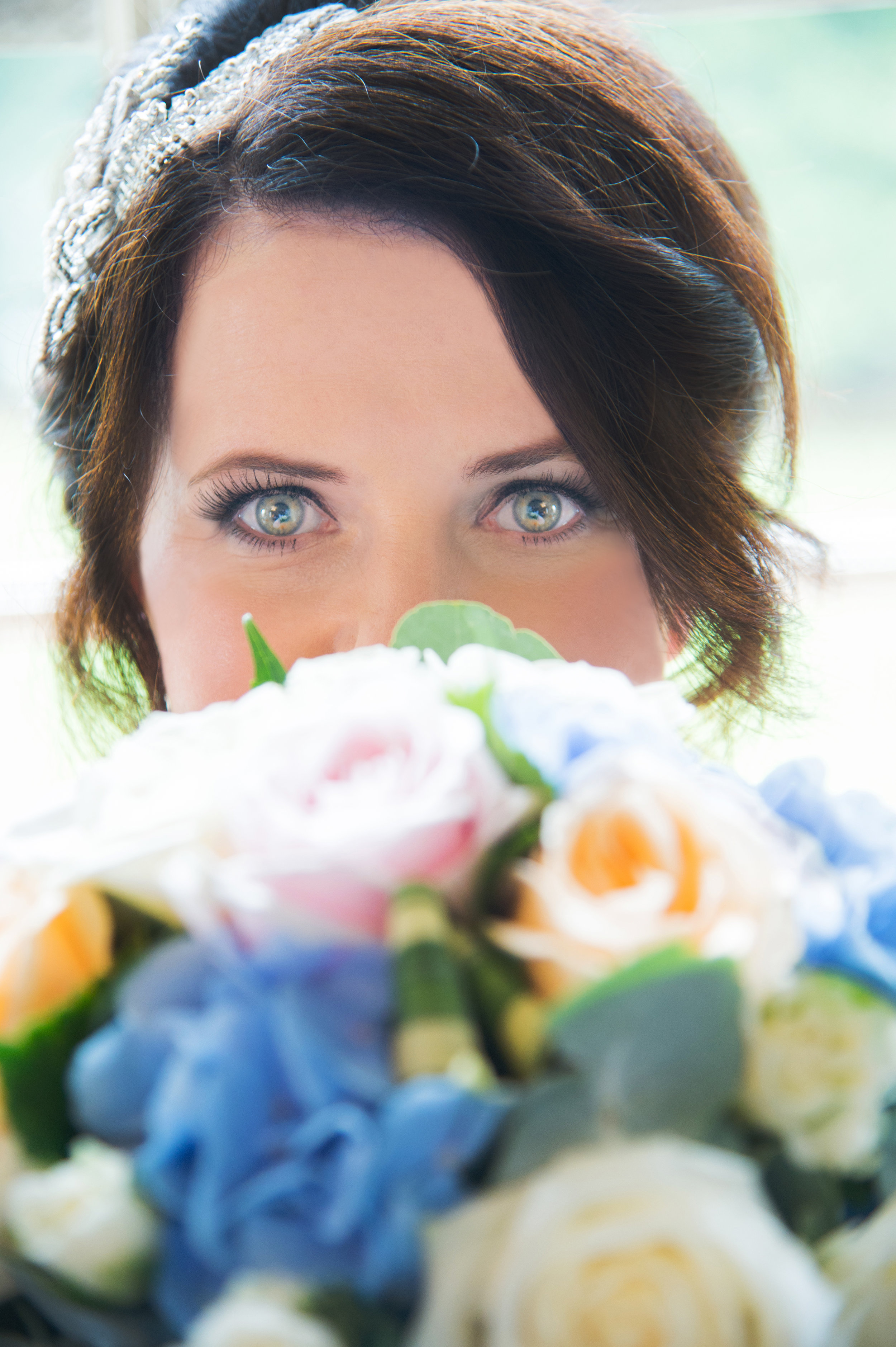 Bride and bouquet Anstey Hall Hotel Coventry