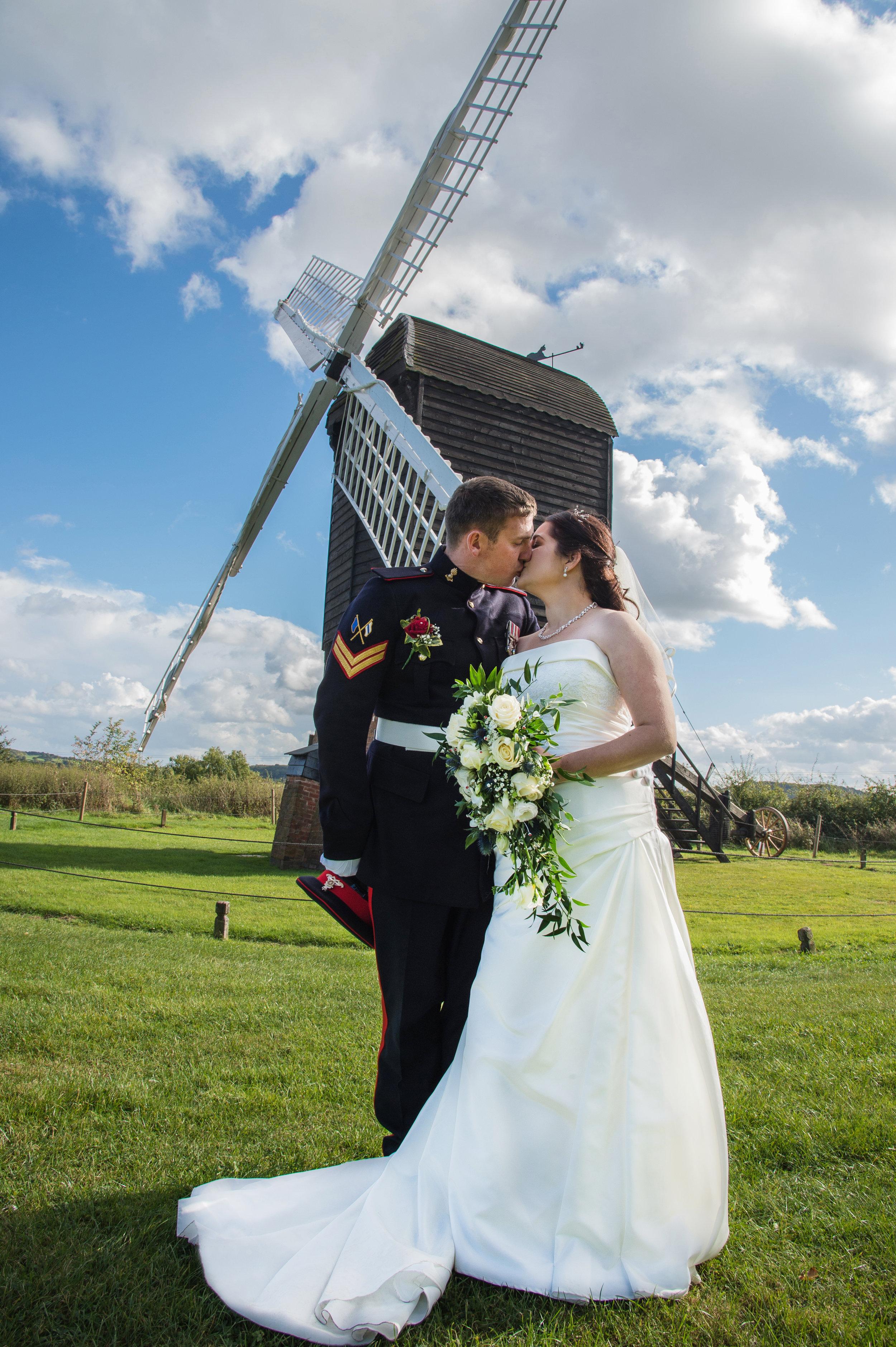 Bride and Groom Kiss Avoncroft Museum Bromsgrove Worcestershire