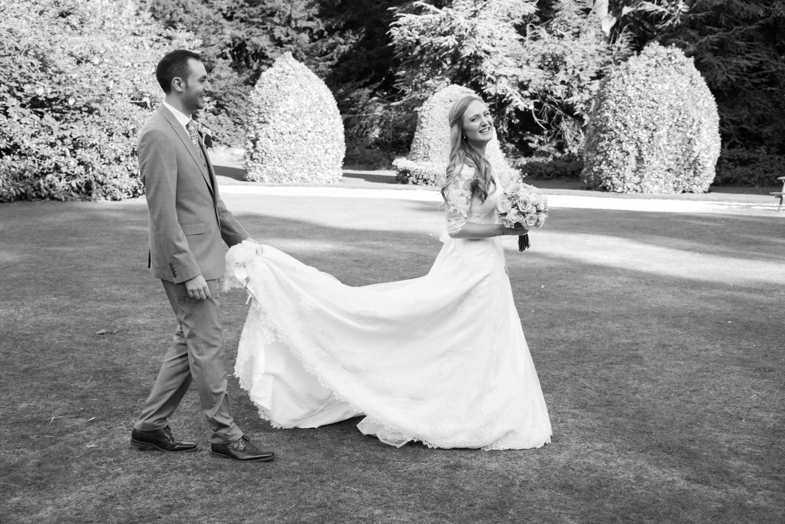 Bride and Groom Highbury Hall Birmingham West Midlands