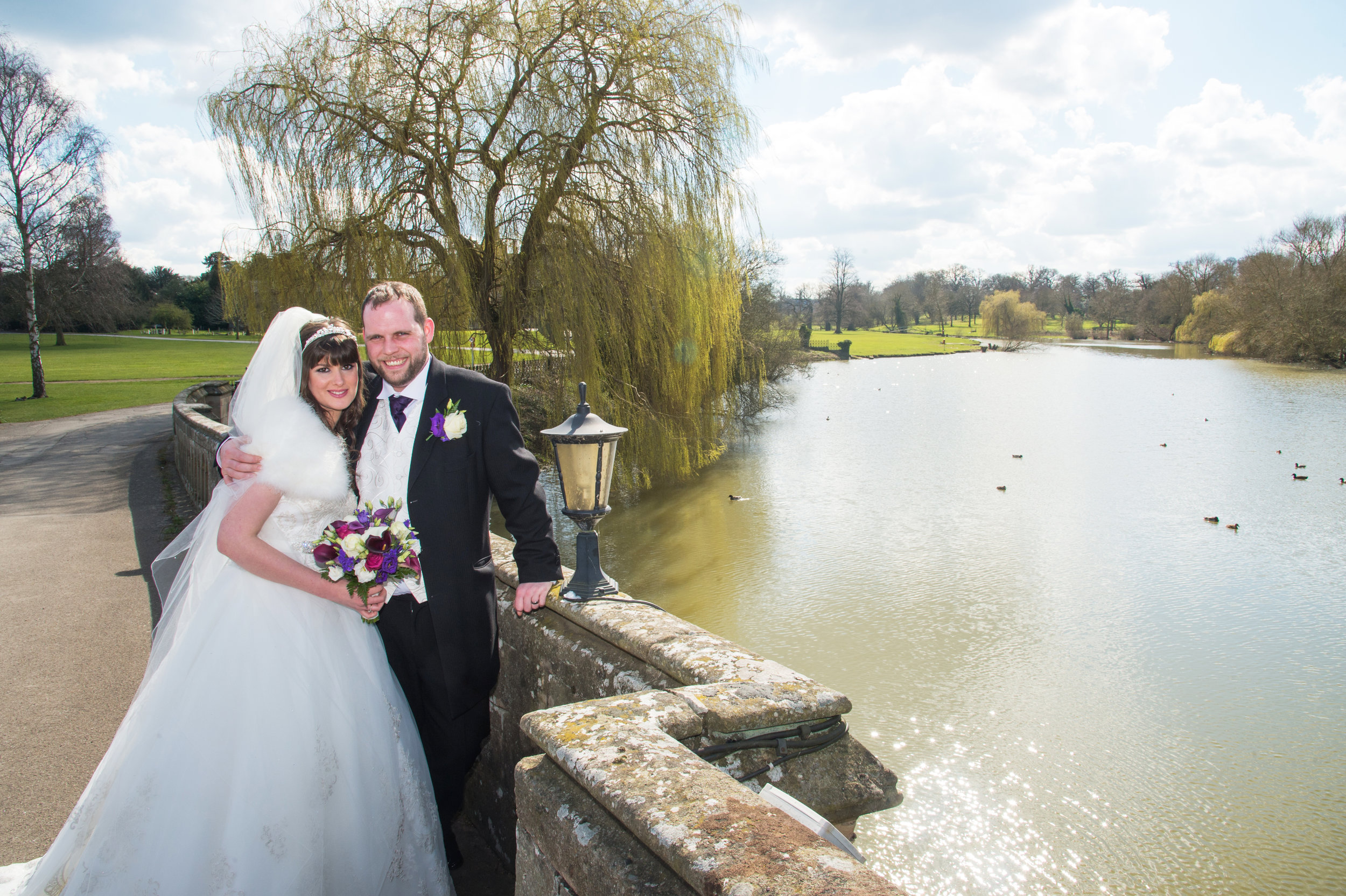 Bride and Groom Walton Hall Hotel Warwickshire