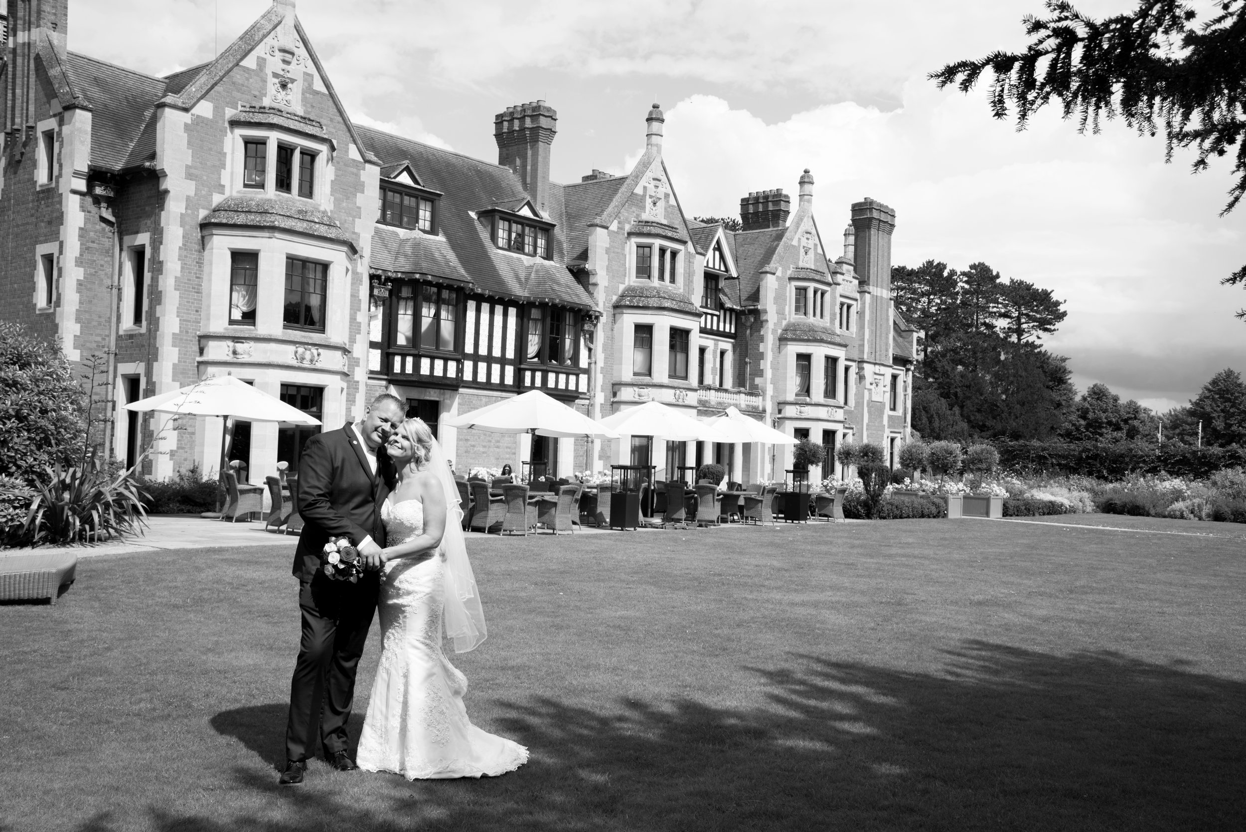 Bride and Groom Wood Norton Hotel Evesham Worcestershire