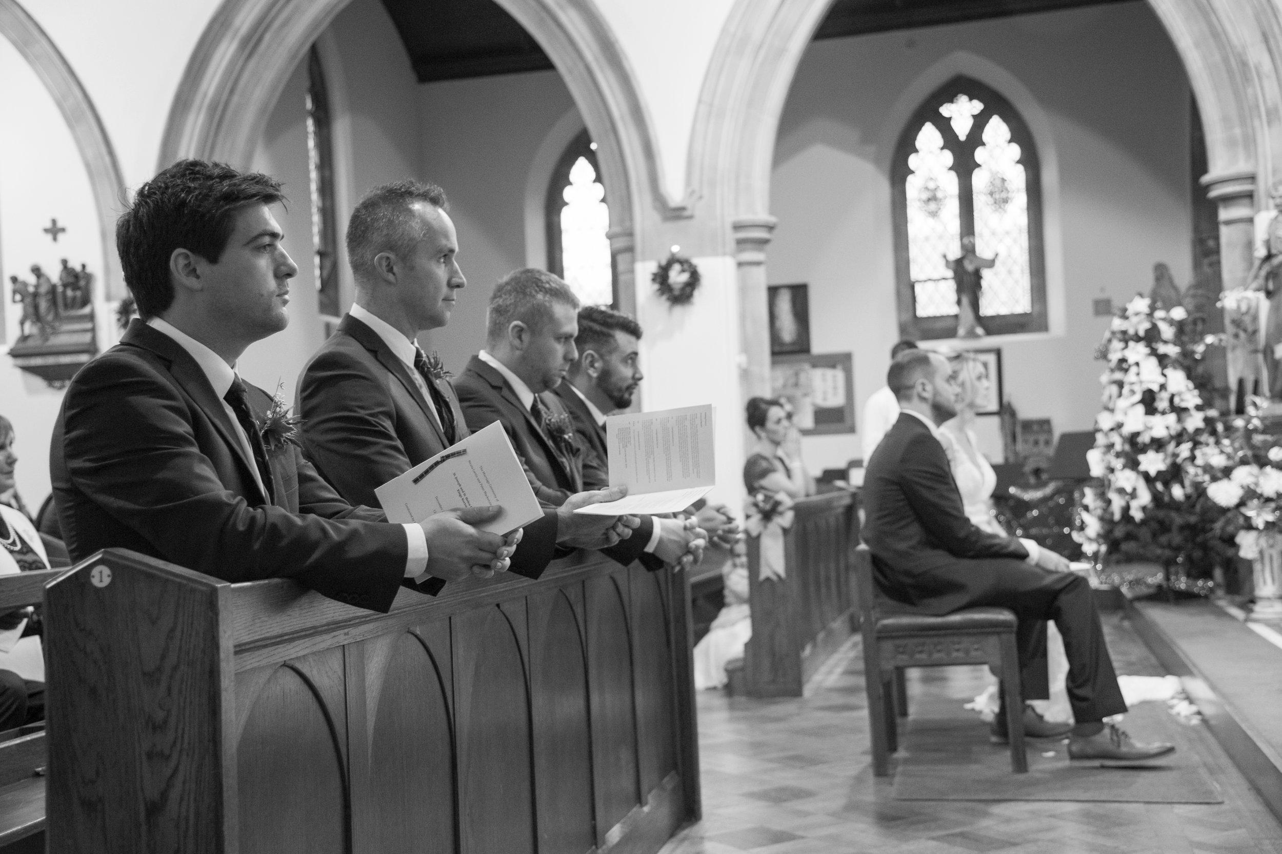 Wedding ceremony St Josephs RC Kings Norton Birmingham