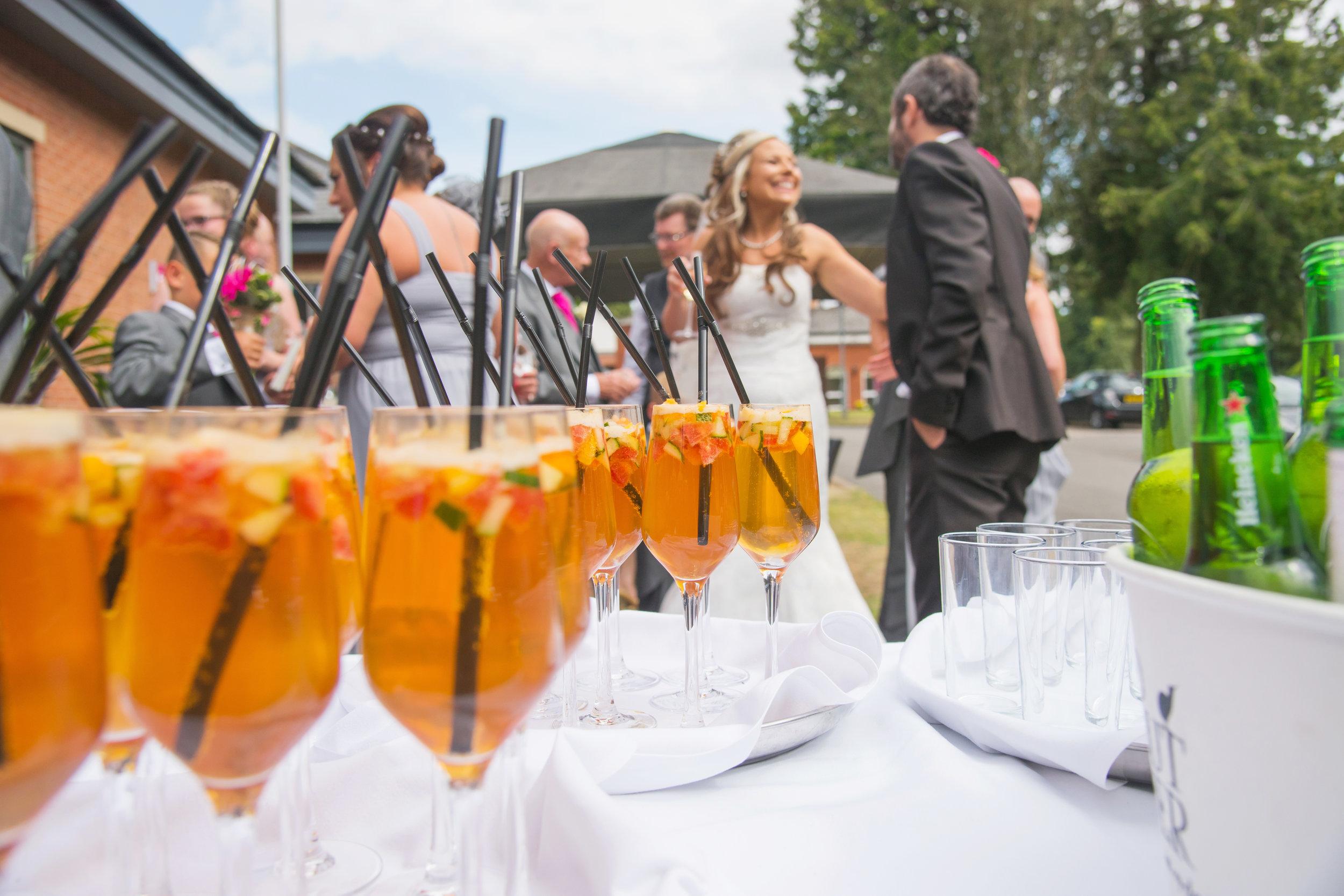 Wedding drinks Brandon Hall Hotel Coventry
