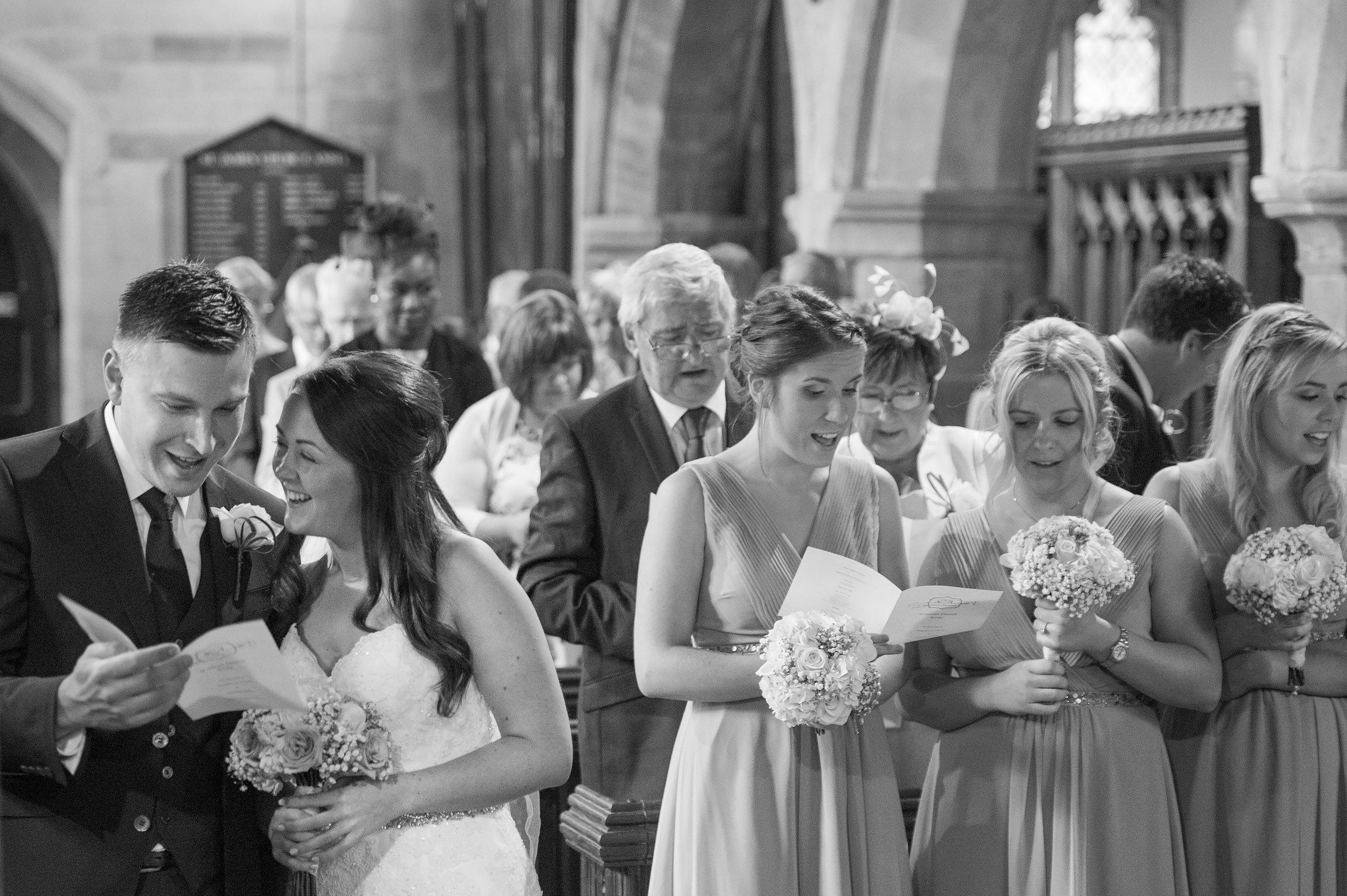 Wedding ceremony St James Church Anstey Coventry