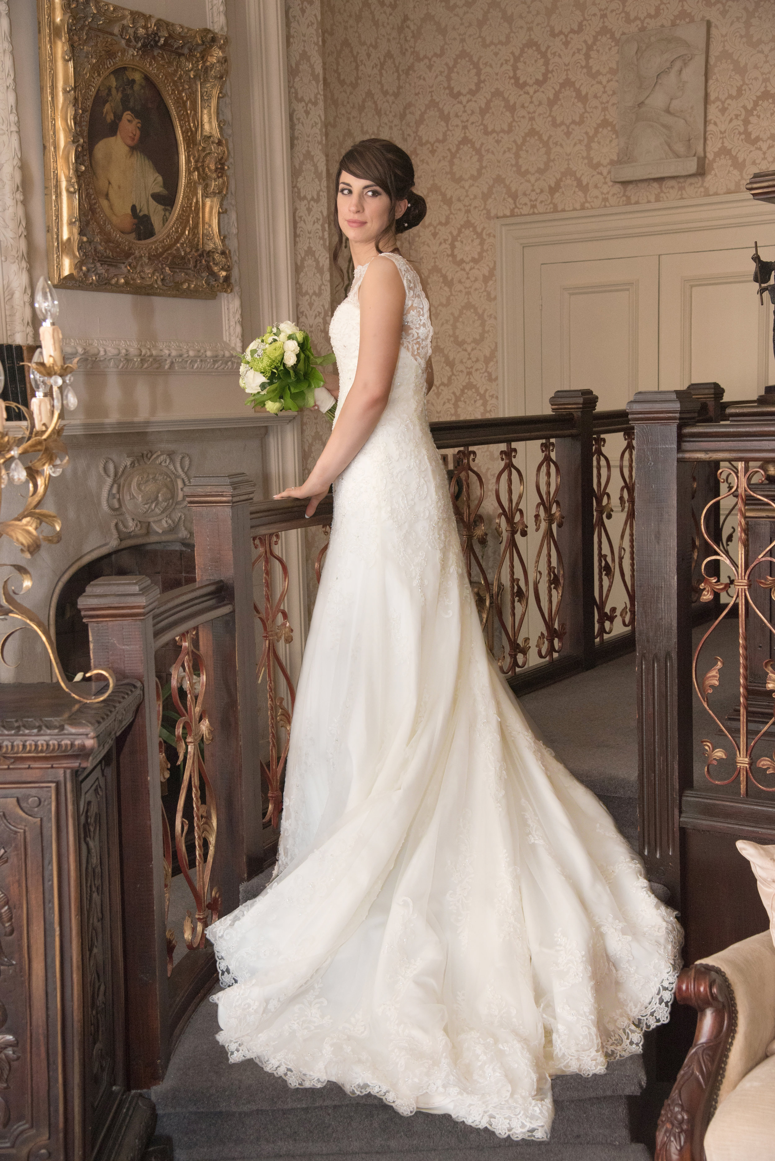 Bride in Bridal suite Coombe Abbey Hotel Coventry