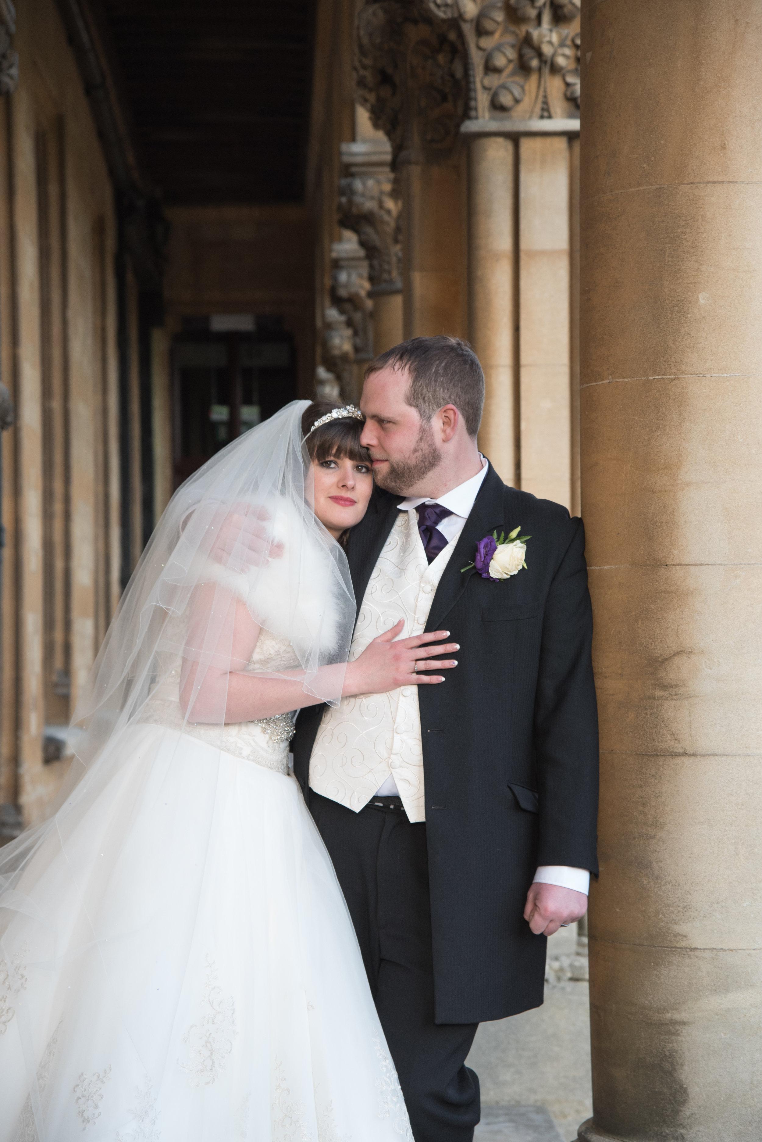 Bride and Groom Walton Hall Hotel Warwickshire