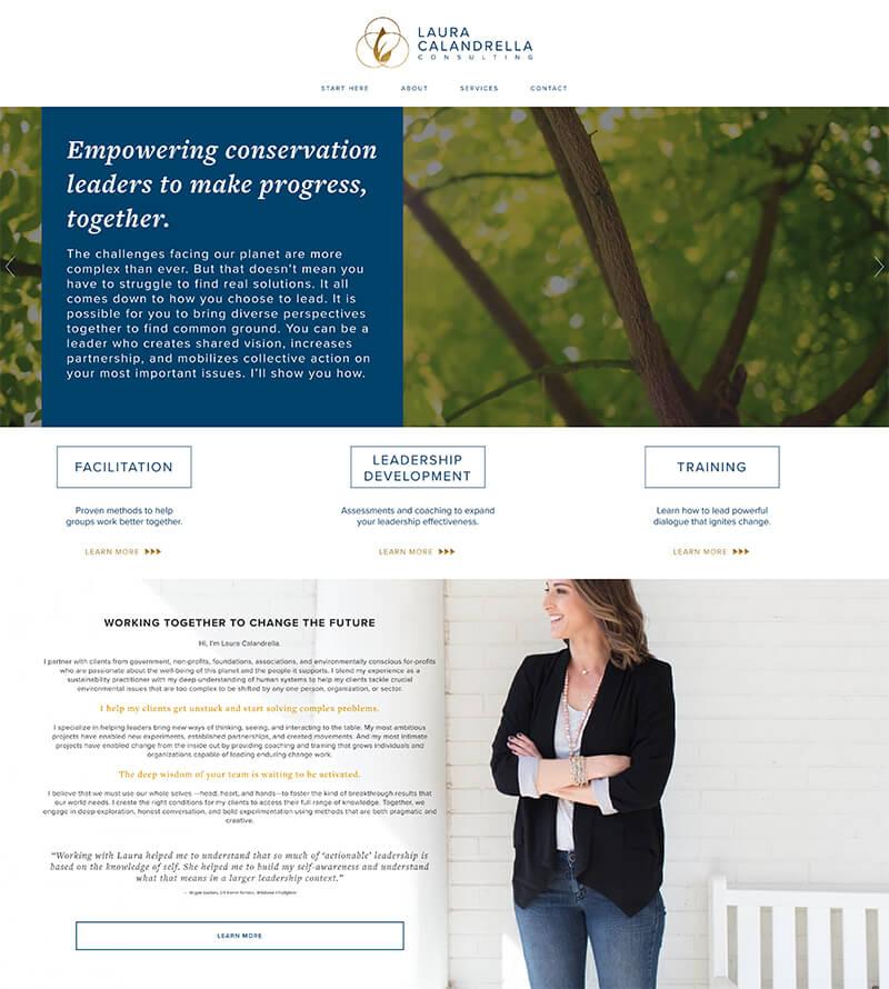 Laura Calandrella - Website URL: https://www.lauracalandrella.com/Designed by: Simple & Soulful CreativeTemplate family used: Brine