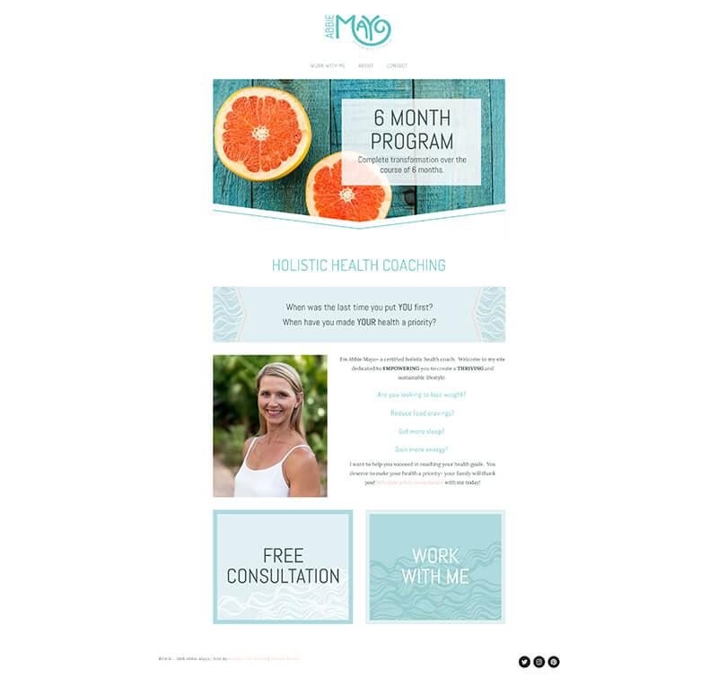 Abbie Mayo - Website URL: https://www.abbiemayo.com/Designed by: Dapper FoxTemplate family used: Montauk