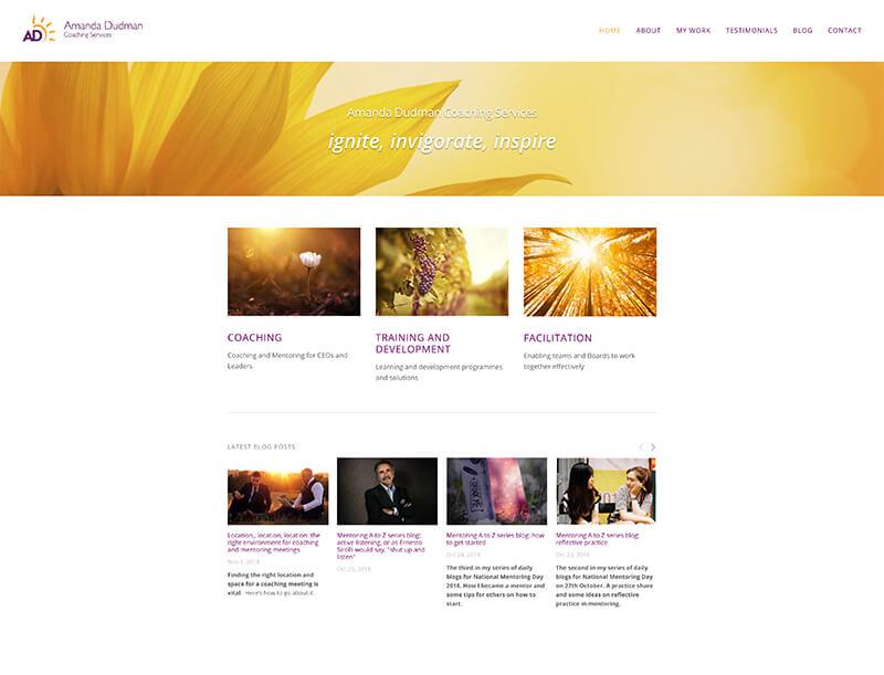Amanda Dudman - Website URL: http://www.amandadudman.co.uk/Designed by: Using My HeadTemplate family used: Bedford