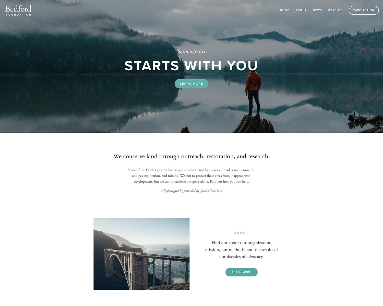 Bedford template in Squarespace