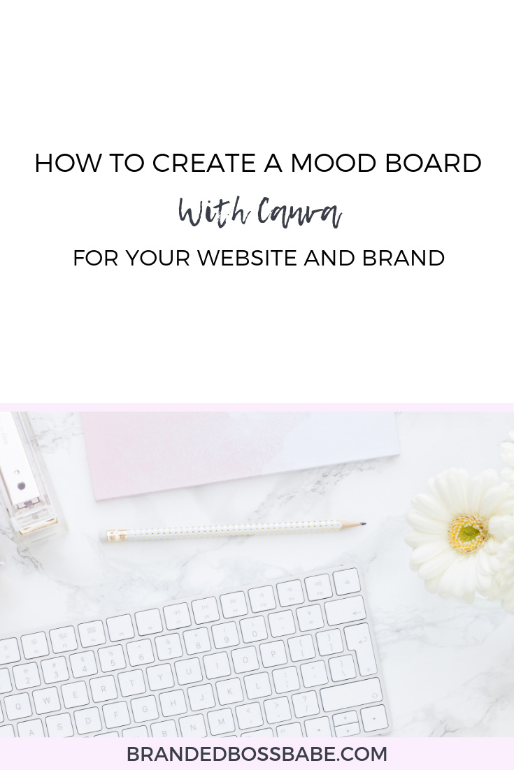 Yesterday, I showed you how to use Pinterest for mood board research. In today's post and video, I'm taking you behind the scenes of my Canva account to show you how to create the final mood board for your brand and website.