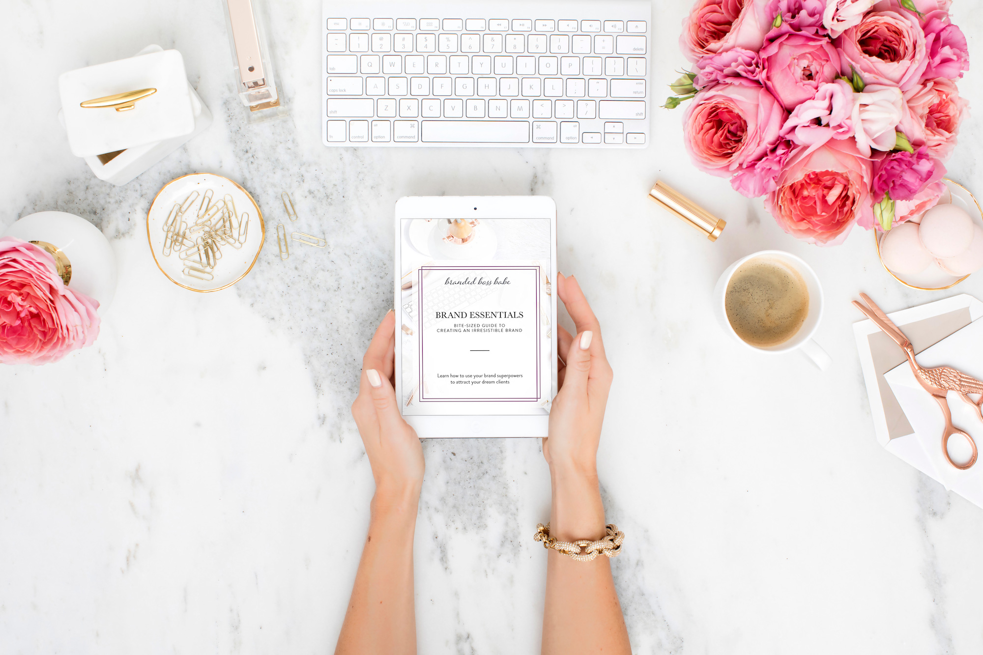 Brand Essentials for Coaches is an interactive ebook and workbook that will help you create an irresistible brand for your coaching business even if you're not a designer and even if you're on a budget.