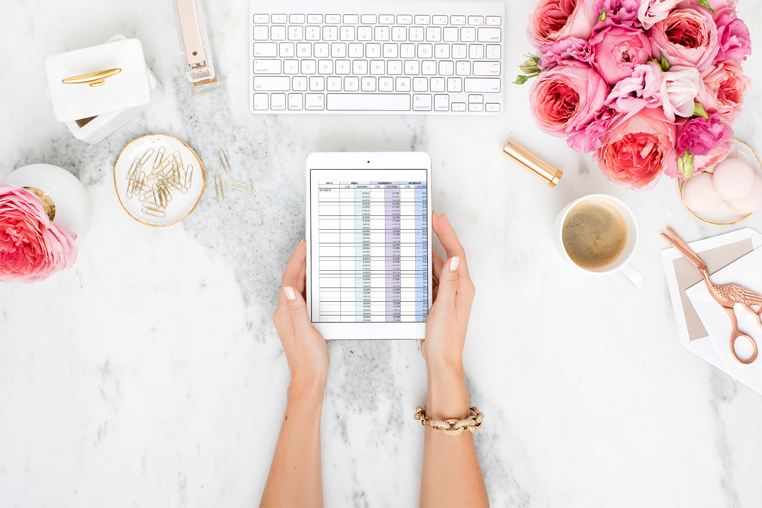 The Brand Growth Tracker is a set of 5 spreadsheets that help you set audience goals and keep track of all the important business stats.
