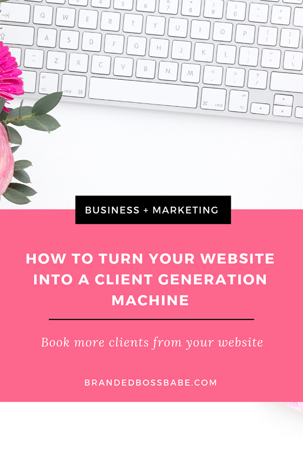 Learn how to use your website to book more clients on autopilot. #brandedbossbabe #marketingtips #websitetips