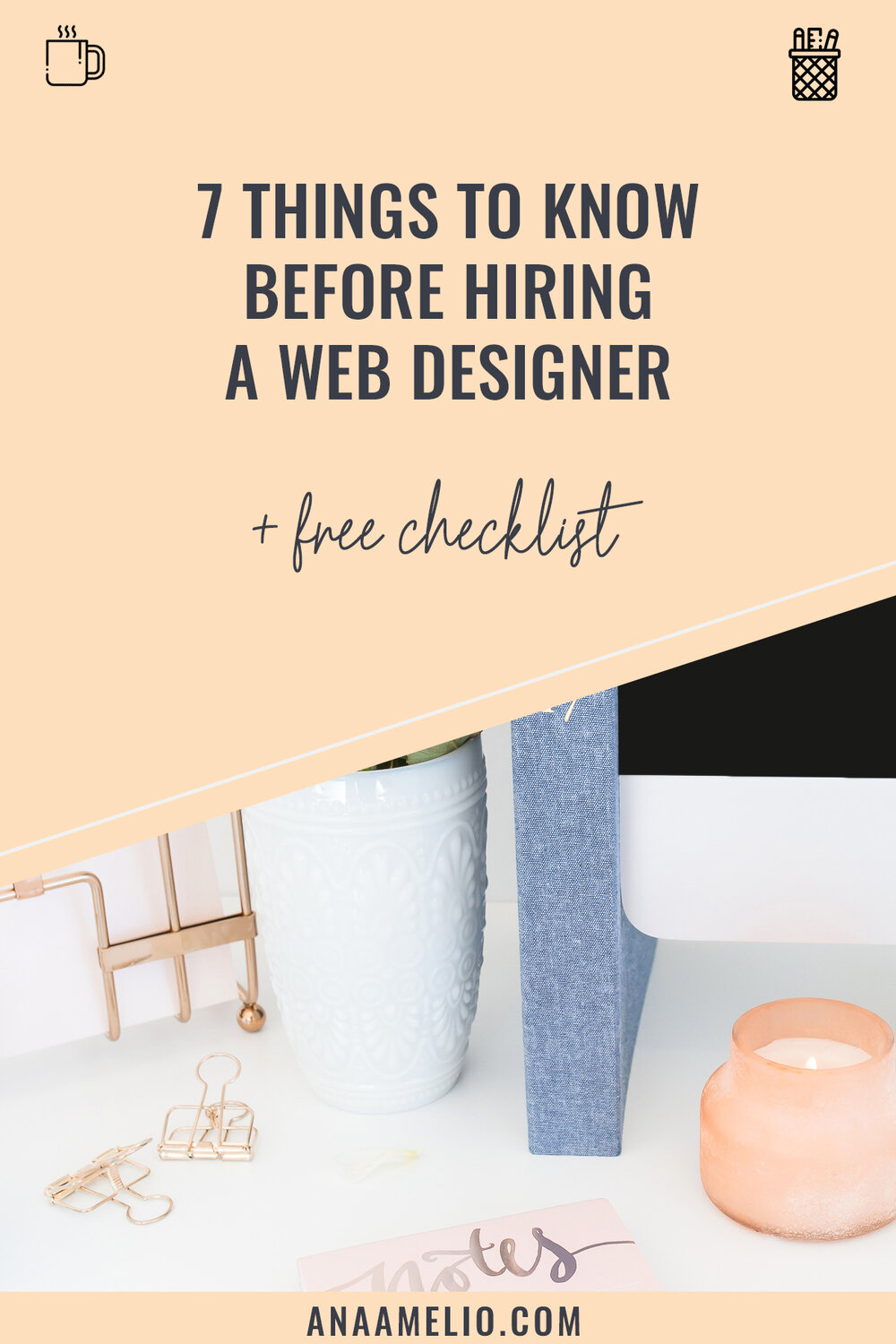 So you've decided to hire a web designer to design your website. Excellent news girl! But, before you set out to hire a web designer, there are a few things you need to know if you want your project to go smooth as butter. #brandedbossbabe #hireawebdesigner #websitedesign #squarespace