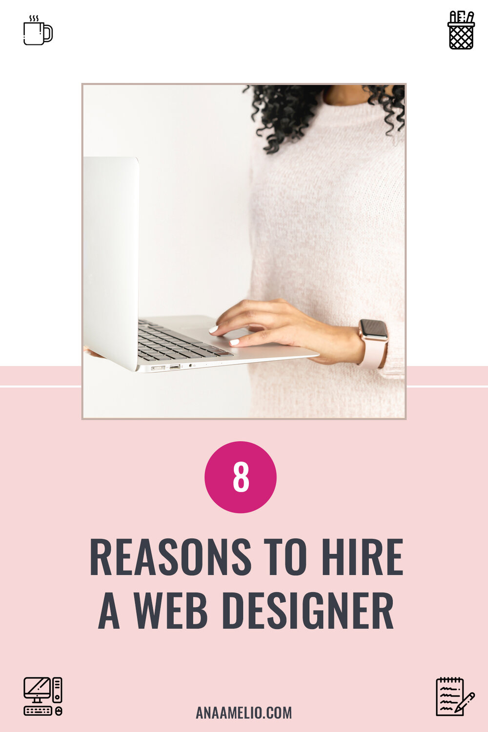 Thinking about hiring a web designer? Learn 8 reasons why you should invest in a professional design instead of DIY-ing your website. #brandedbossbabe #squarespacedesigner #hiringawebdesigner