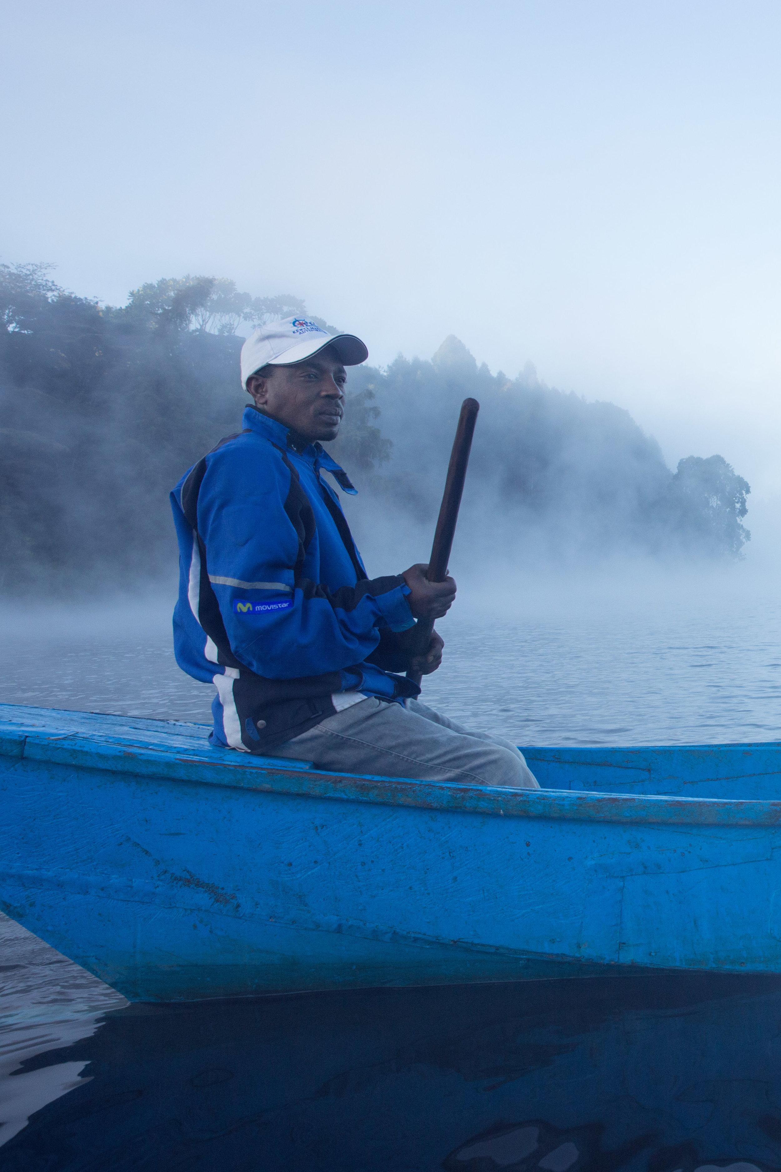 Mr. Mwangi, local fisherman