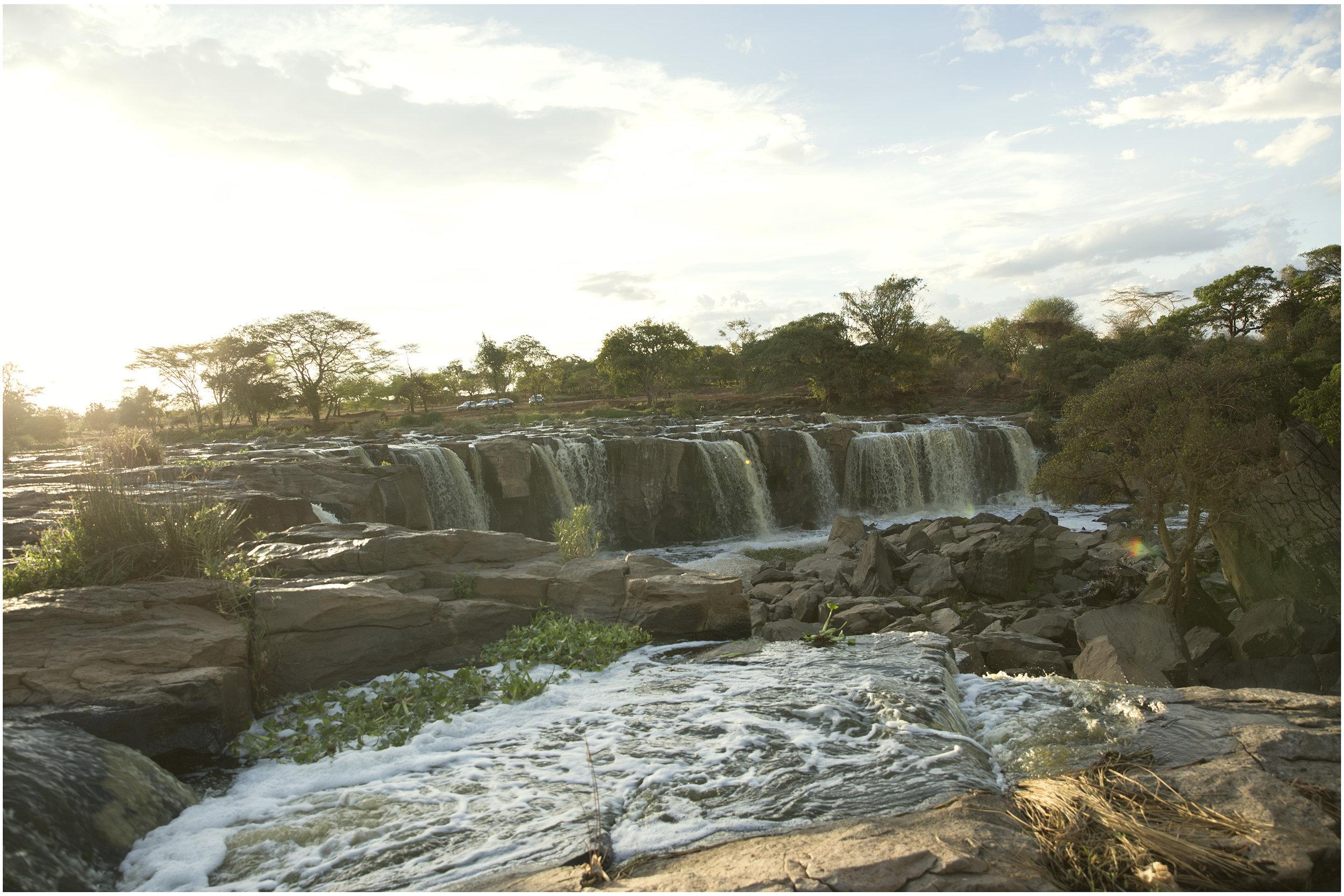 Fourteen Falls, Thika, Kenya. (View from Machakos County)