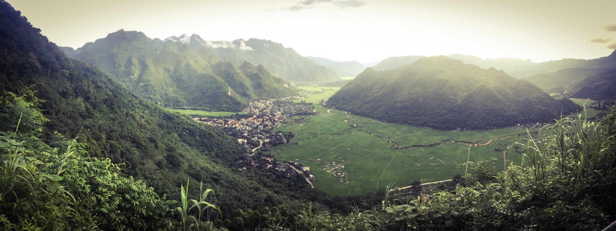 what a view!! Mai Chau from the final descent