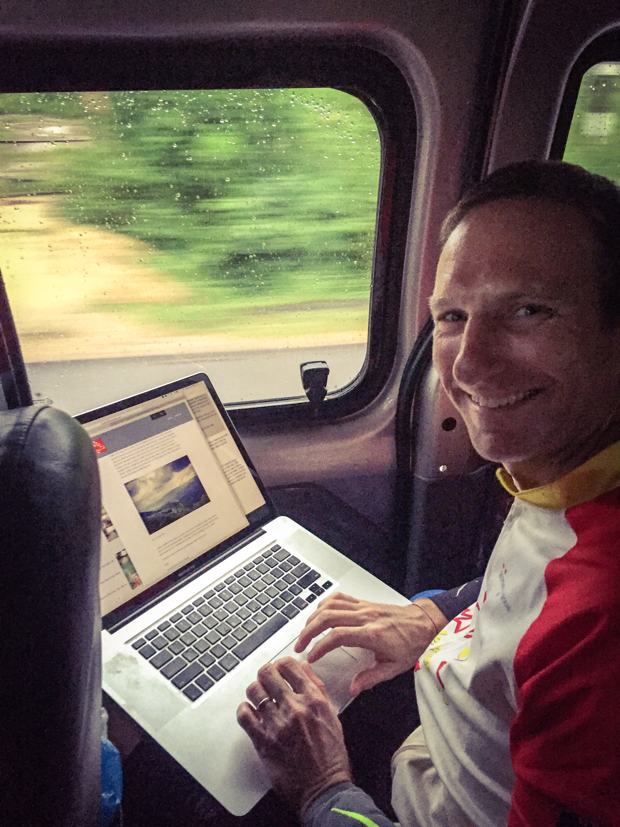Finishing yesterday's blog whilst in the van to the start of Day 10