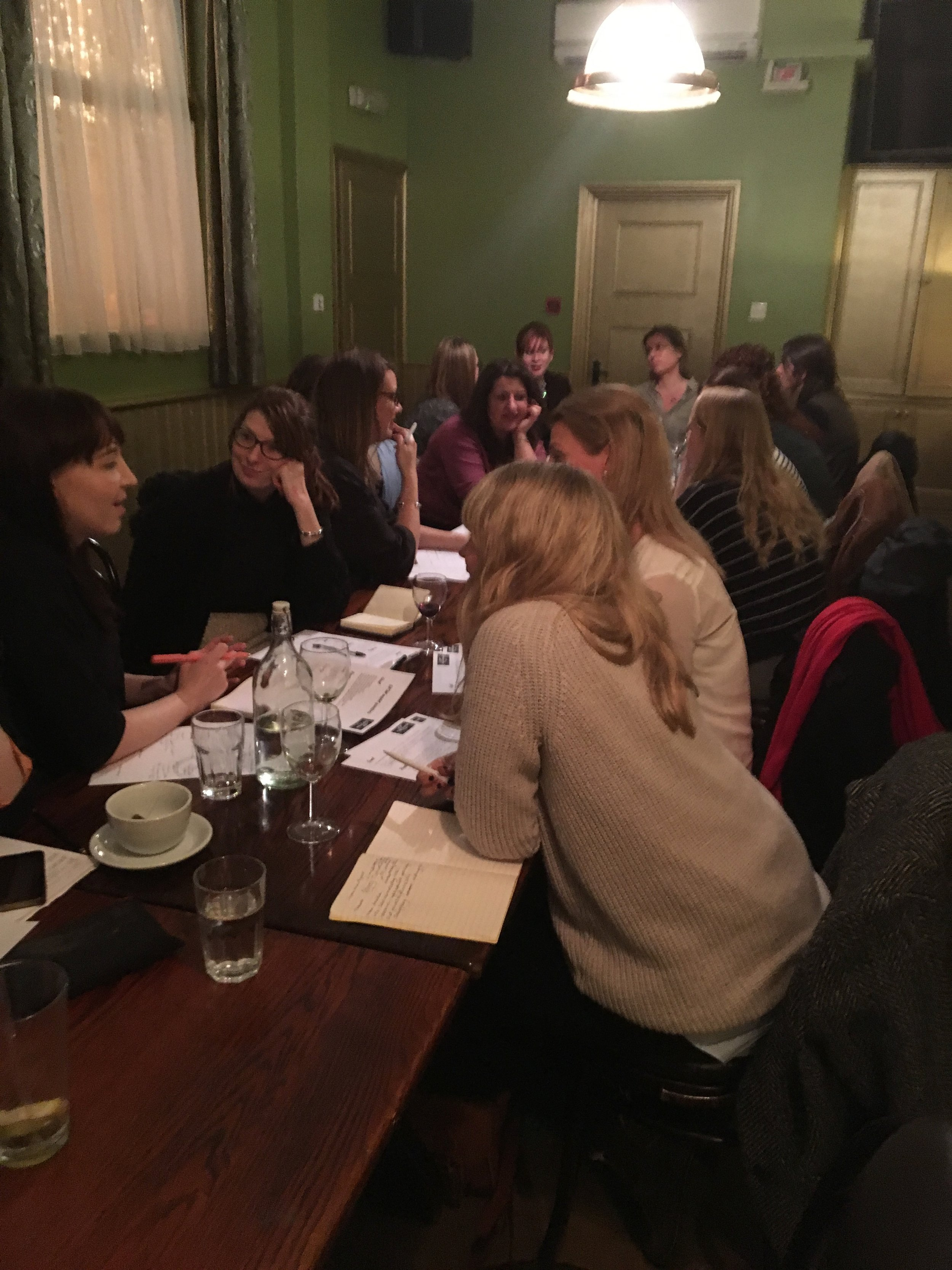 Some fabulous superwomen getting stuck into discussing their career goals