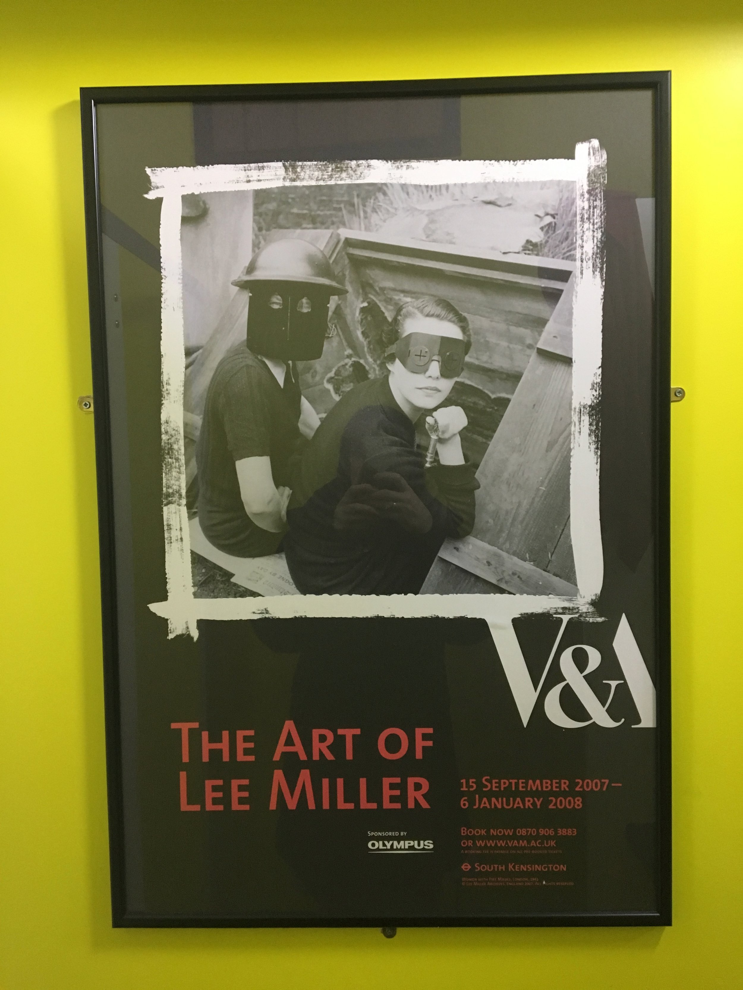 Poster for the 2007 exhibition The Art of Lee Miller at The V&A