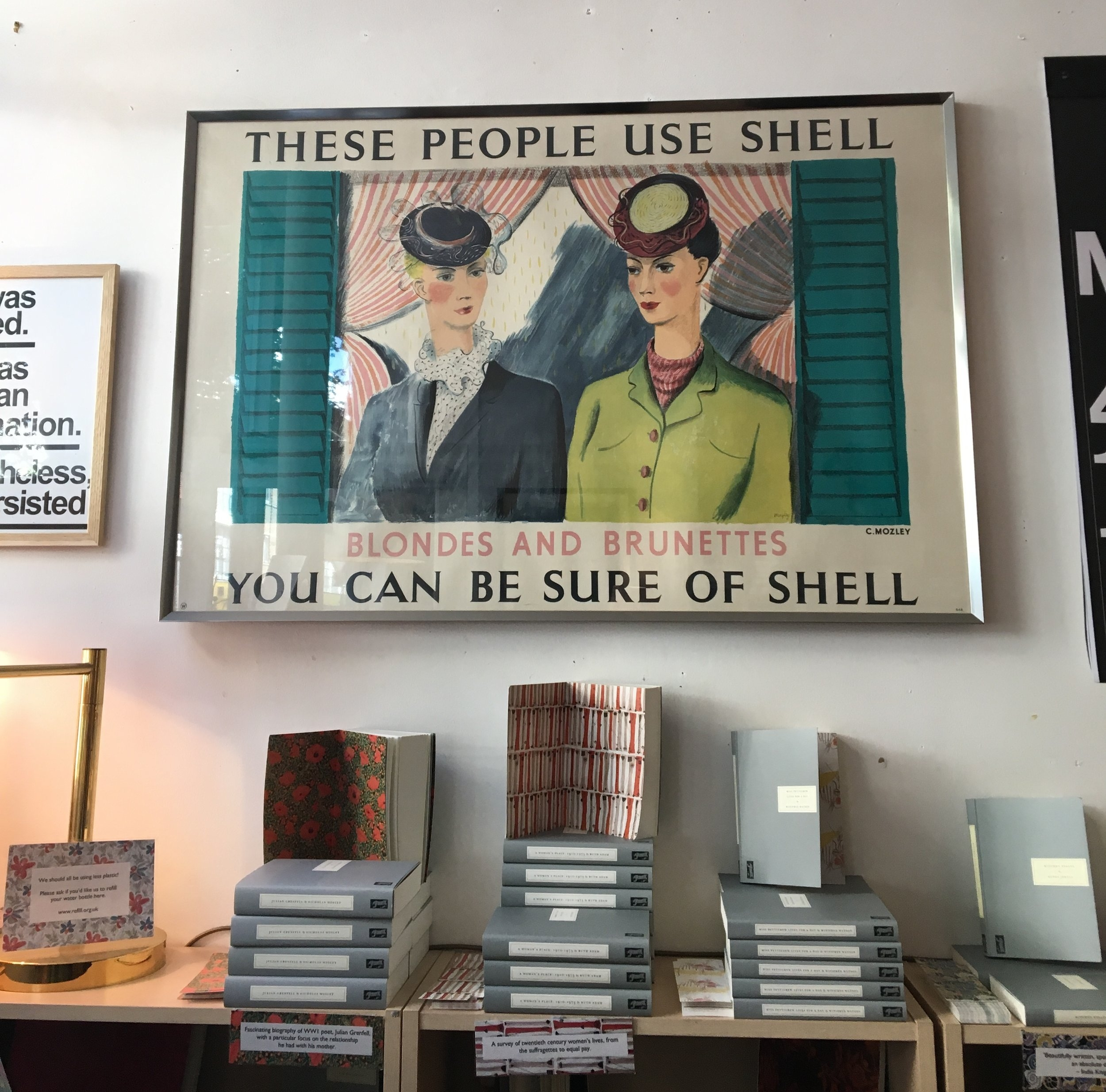 Inside Persephone Books, Lamb's Conduit Street.