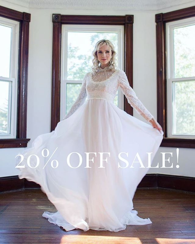 Surprise! Everything in the shop is on sale now until June 6th. 🥰 Making some room for all the new beautiful things coming soon. . . . #vintagebridal #vintagebride #1930sweddingdress #1940sweddingdress #1950sweddingdress #1960sweddingdress #1970sweddingdress #weddinggownsale #vintagesale #ethicalbride #ethicalwedding #sustainablebridal #sustainablefashion #ethicalfashion #weddinginspiration #marylandbride #vintageweddingdress