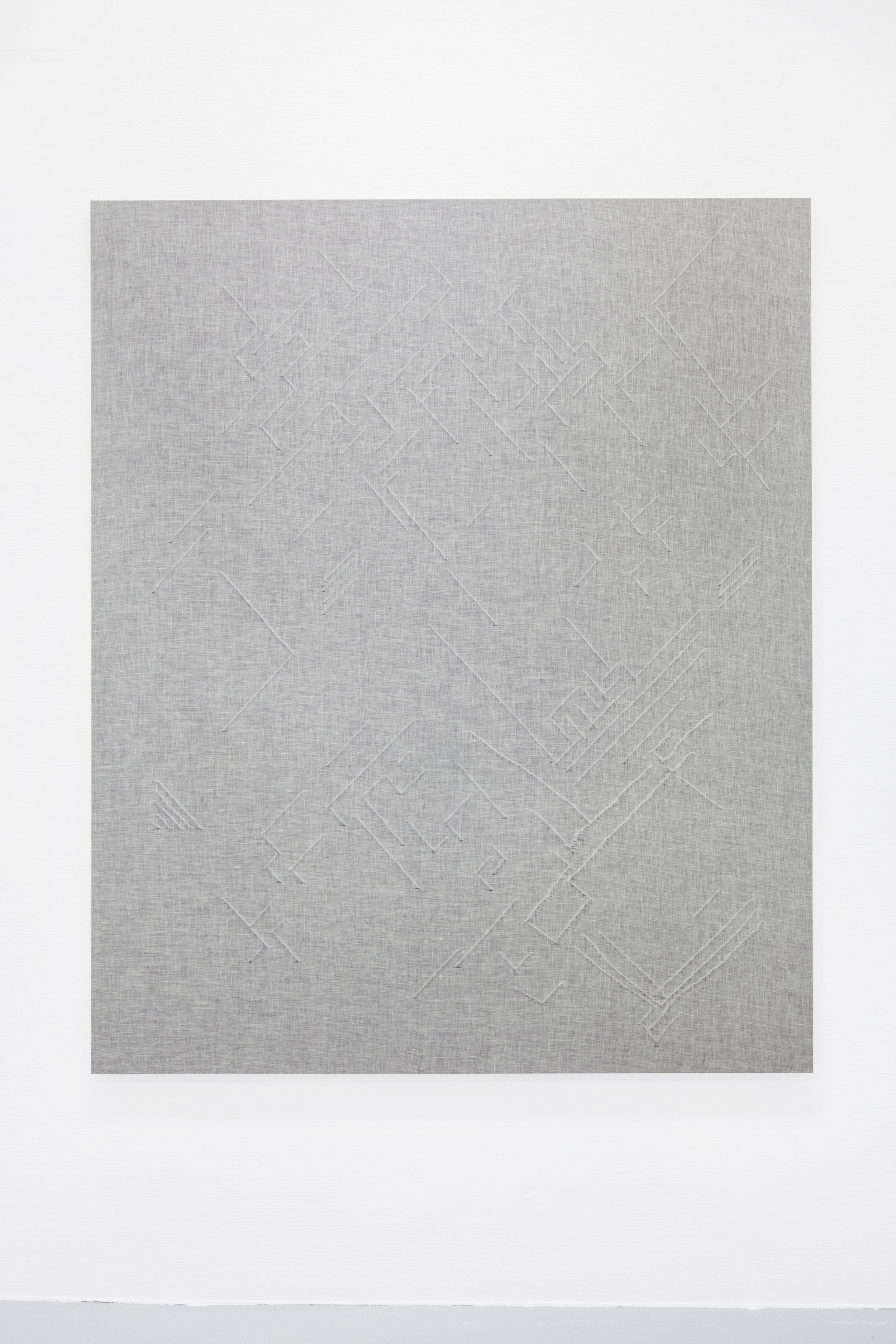 Cortex, muslin fabric, cotton canvas wooden frame, 2016