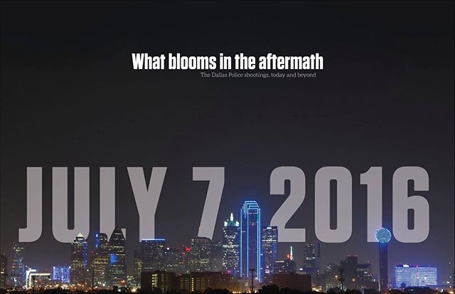 Focus Magazine on the aftermath of the July 7th shootings will be available this afternoon.