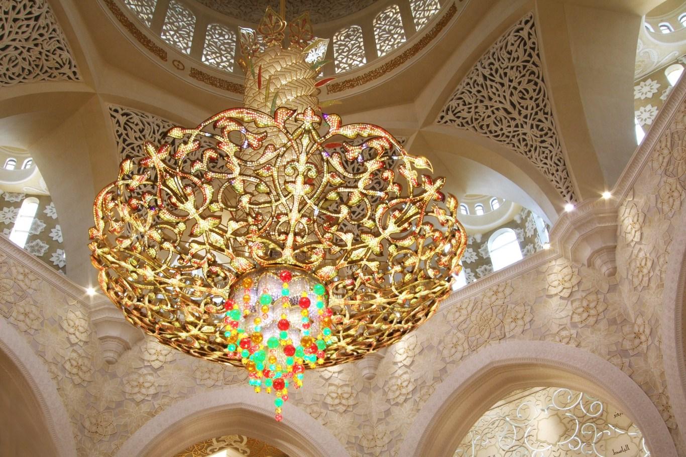 Chandelier in the mosque