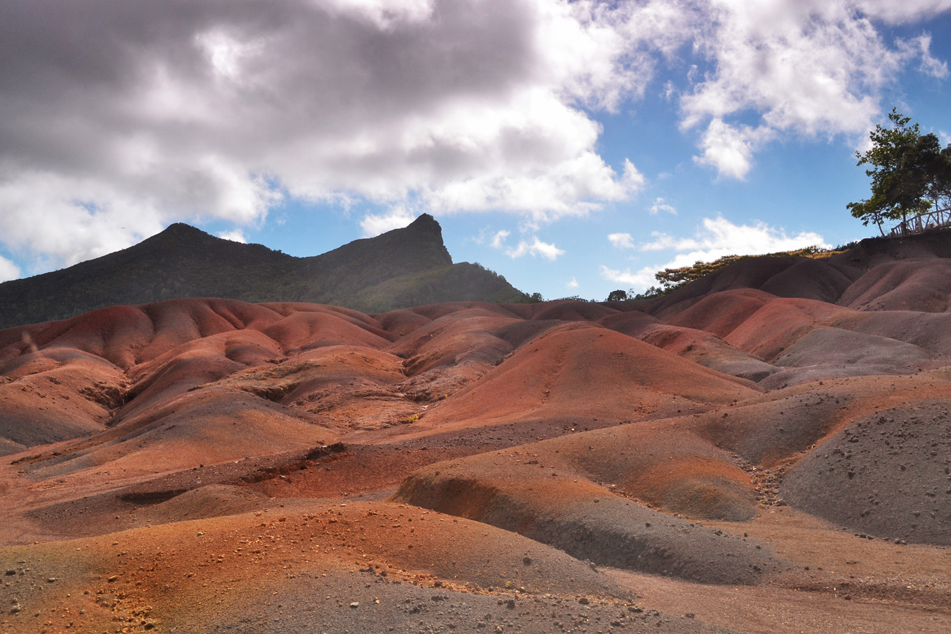 Seven colored earths in Mauritius