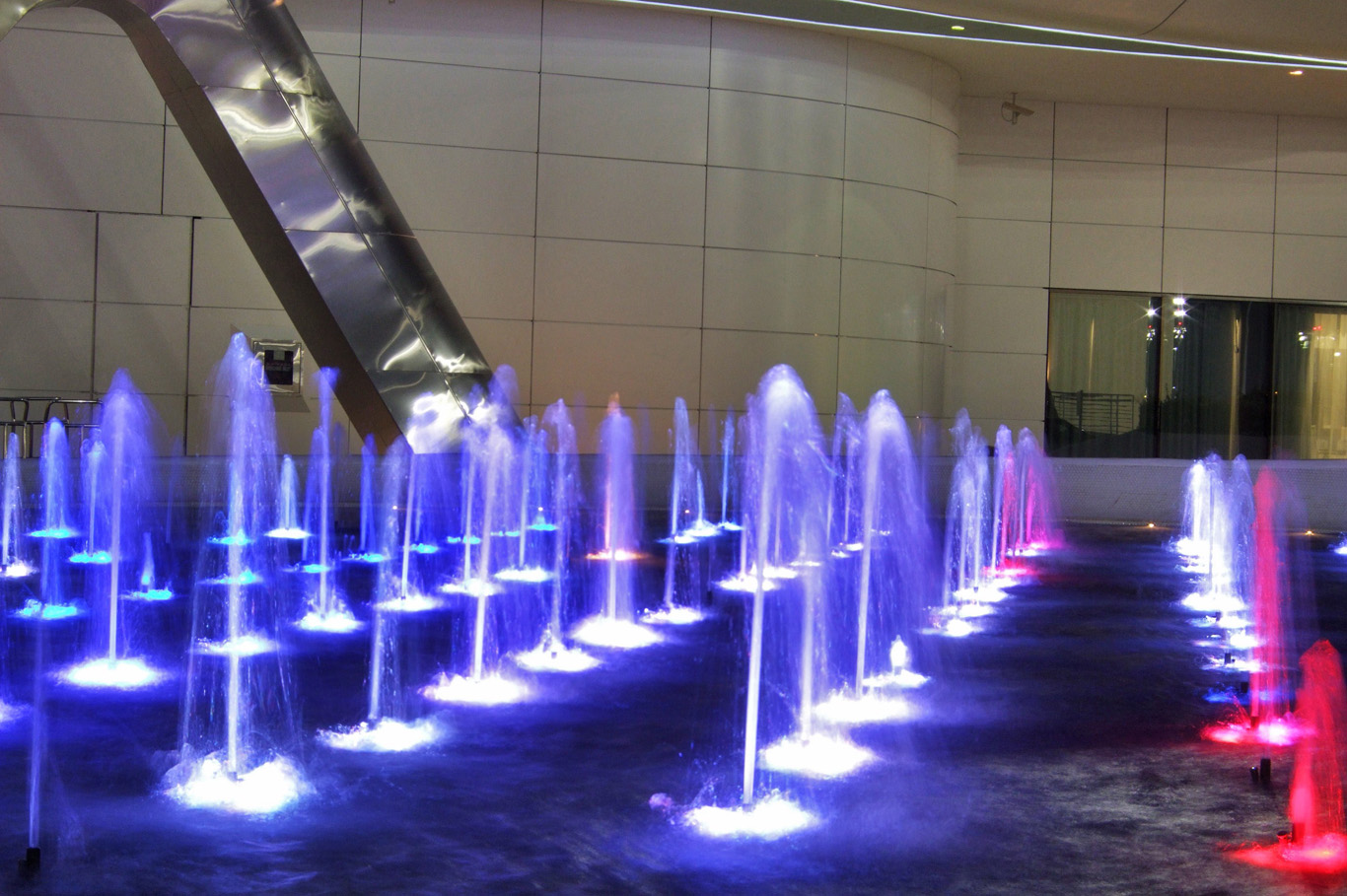 Colorful fountains