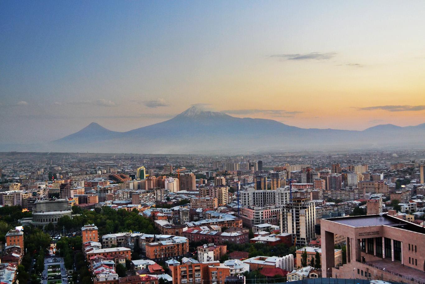 Yerevan with Mount Ararat in the background