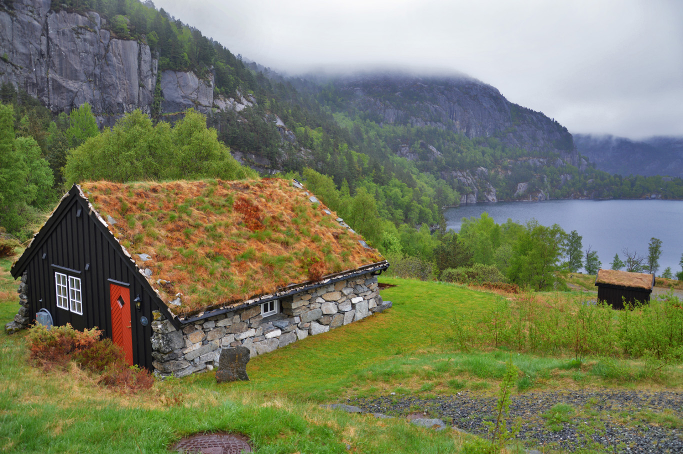 Typical Norwegian hut