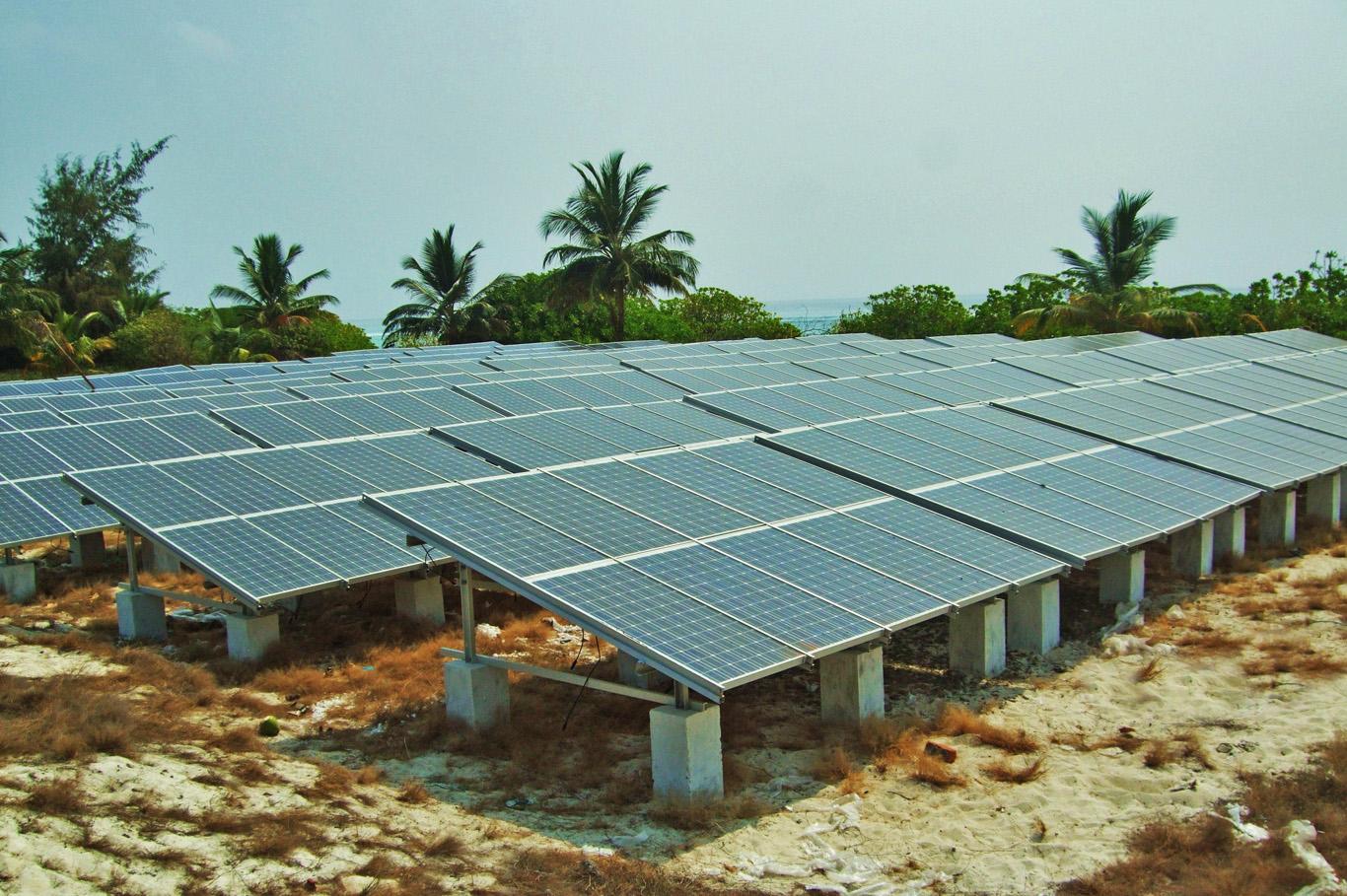 Solar power plant in Kadmat, Lakshadweep Islands