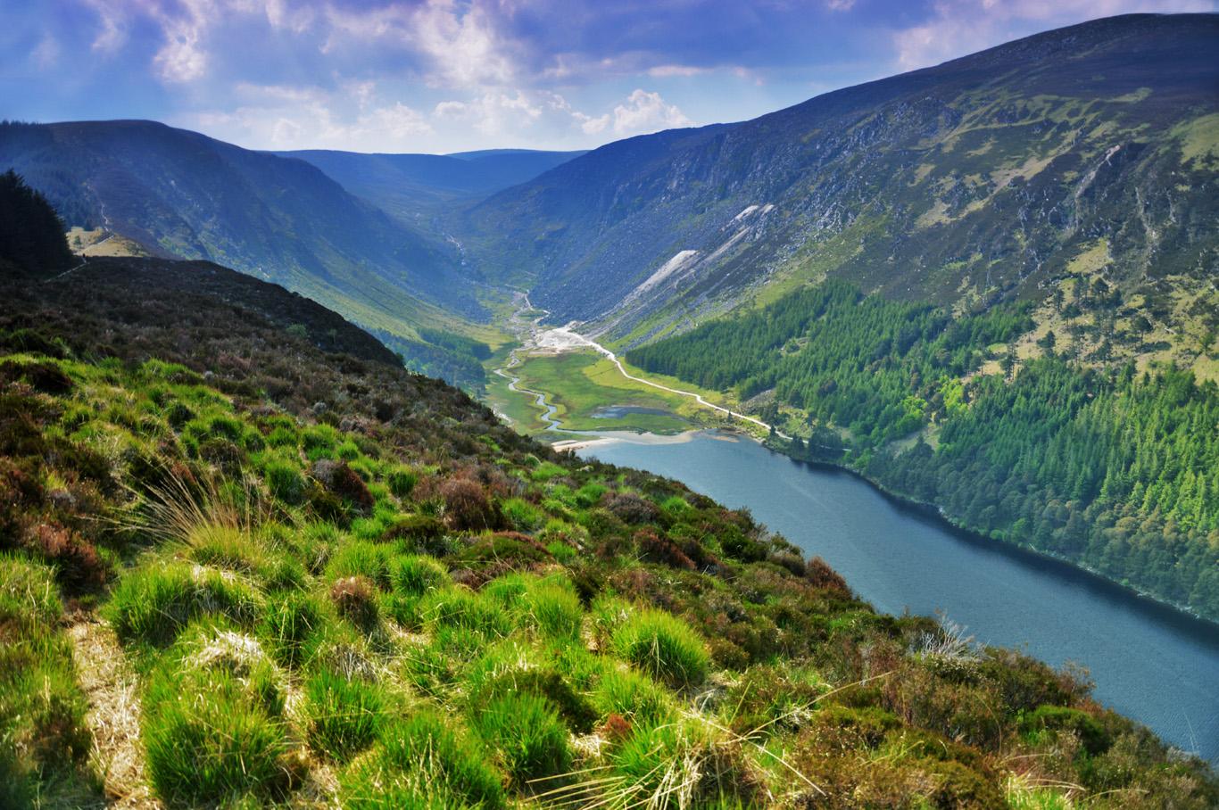 Glendalough, Wicklow Mountains National Park, Ireland - The Valley ...