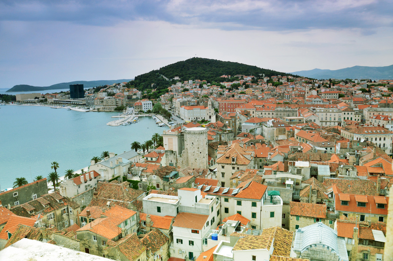 Split, Croatia, view from the Bell Tower
