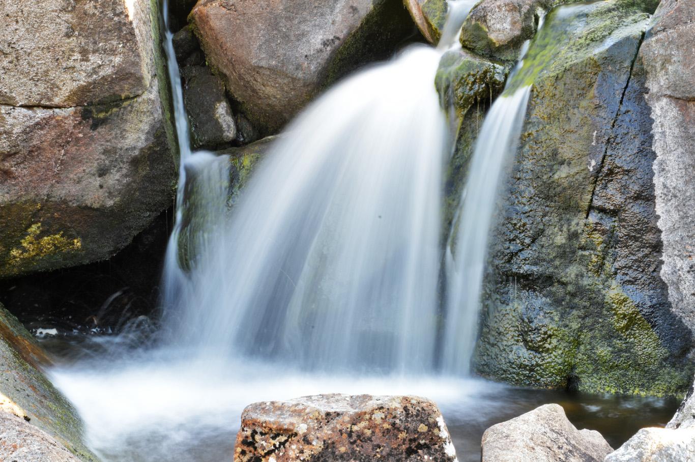 Waterfall on Glenealo river - long exposure photo